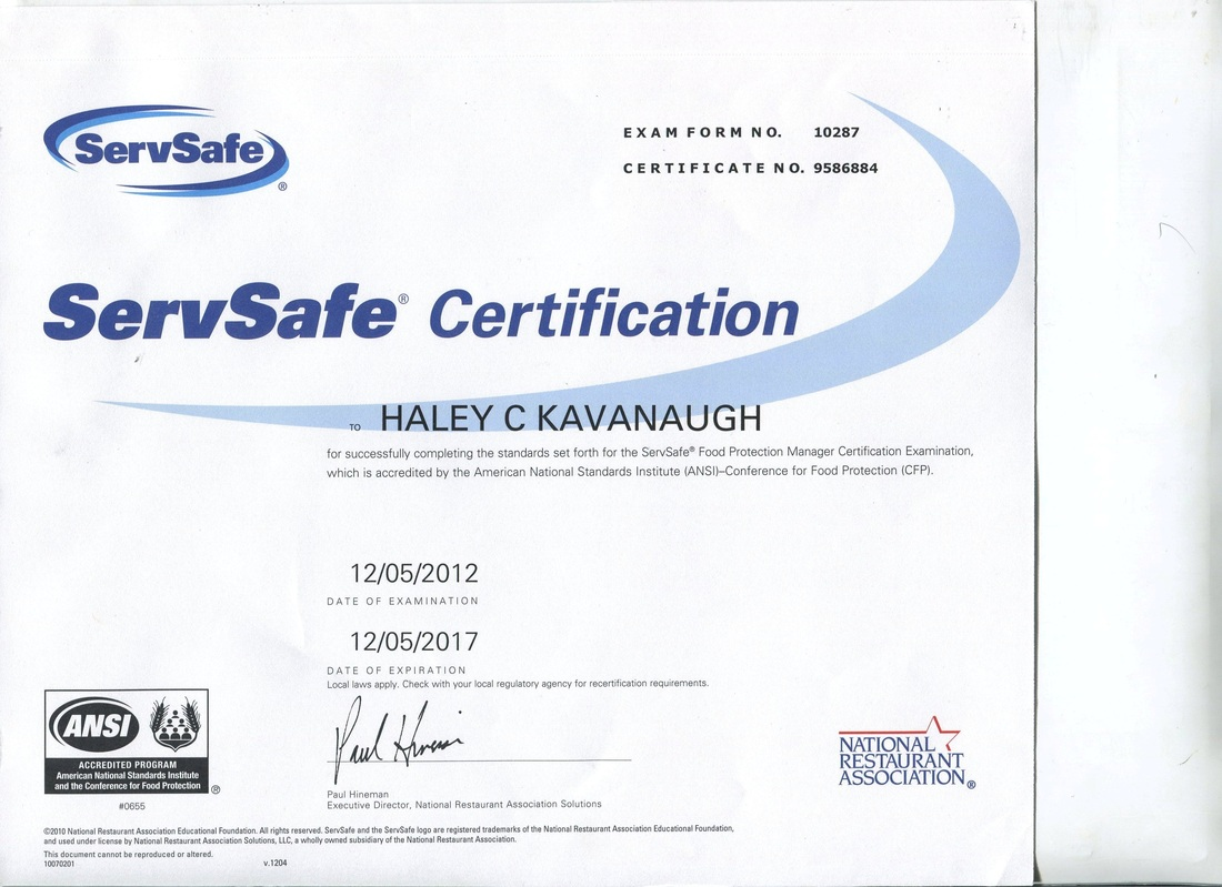 Servsafe Haley Kavanaugh